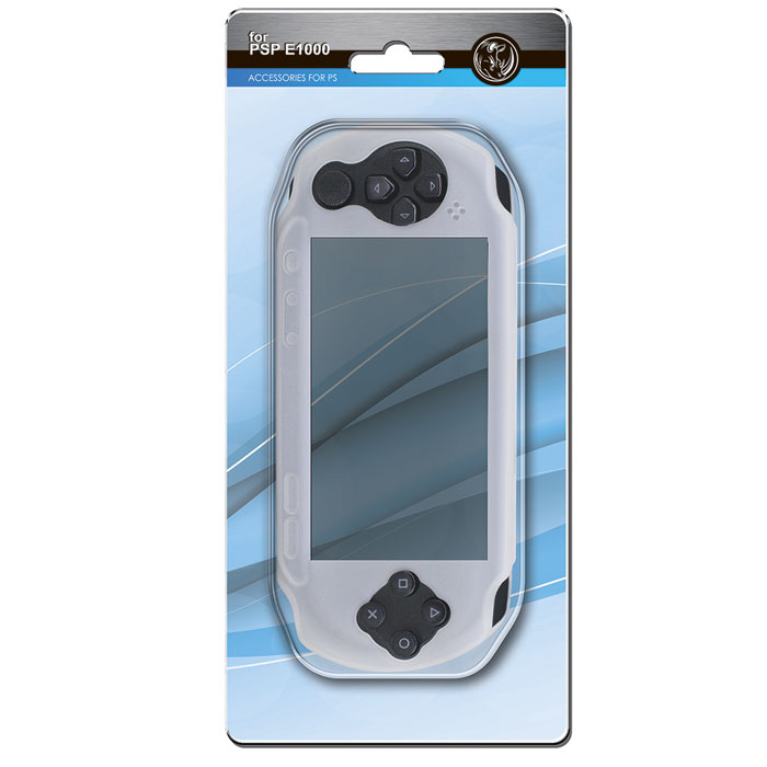 Силиконовый чехол Black Horns для Sony PSP E1000 (серый) разветвитель usb black horns для ps4