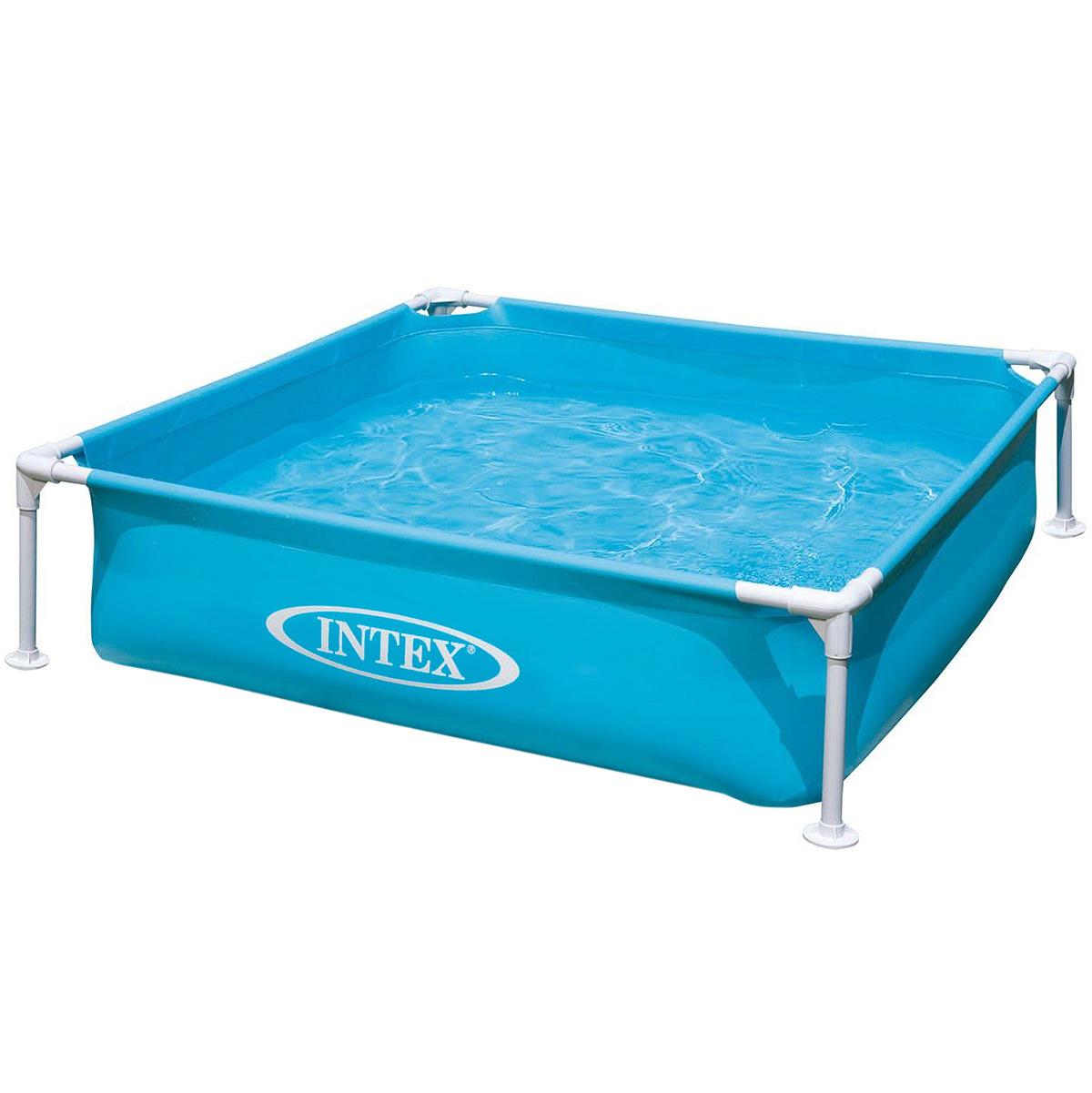 Бассейн Intex, каркасный, цвет: голубой, 122 х 30 см бассейн каркасный intex 28310 ultra frame 427х107см