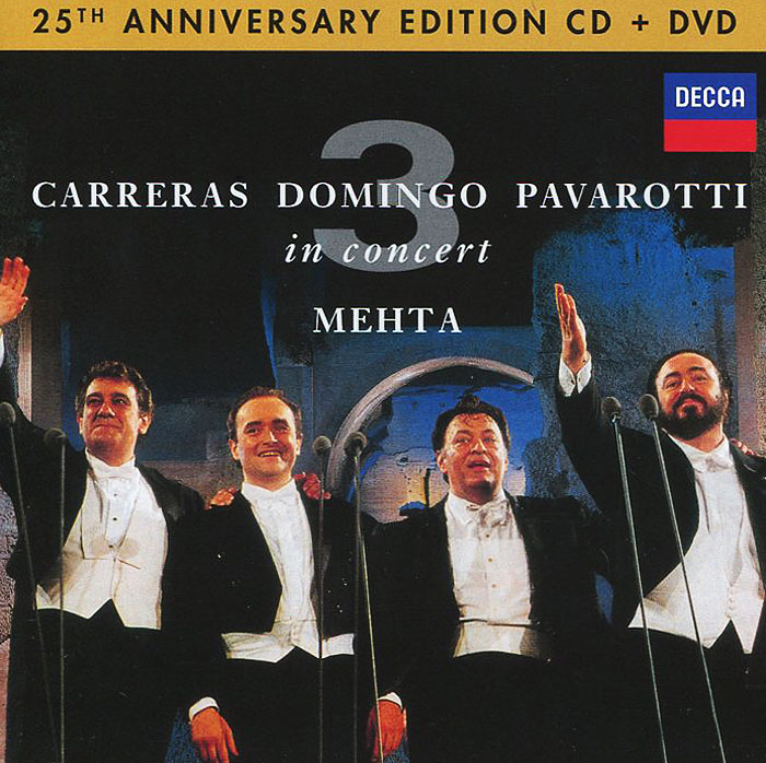 Хосе Каррерас,Пласидо Доминго,Лучано Паваротти Carreras / Domingo / Pavarotti. In Concert. Anniversary Edition (CD + DVD) disney in concert braunschweig