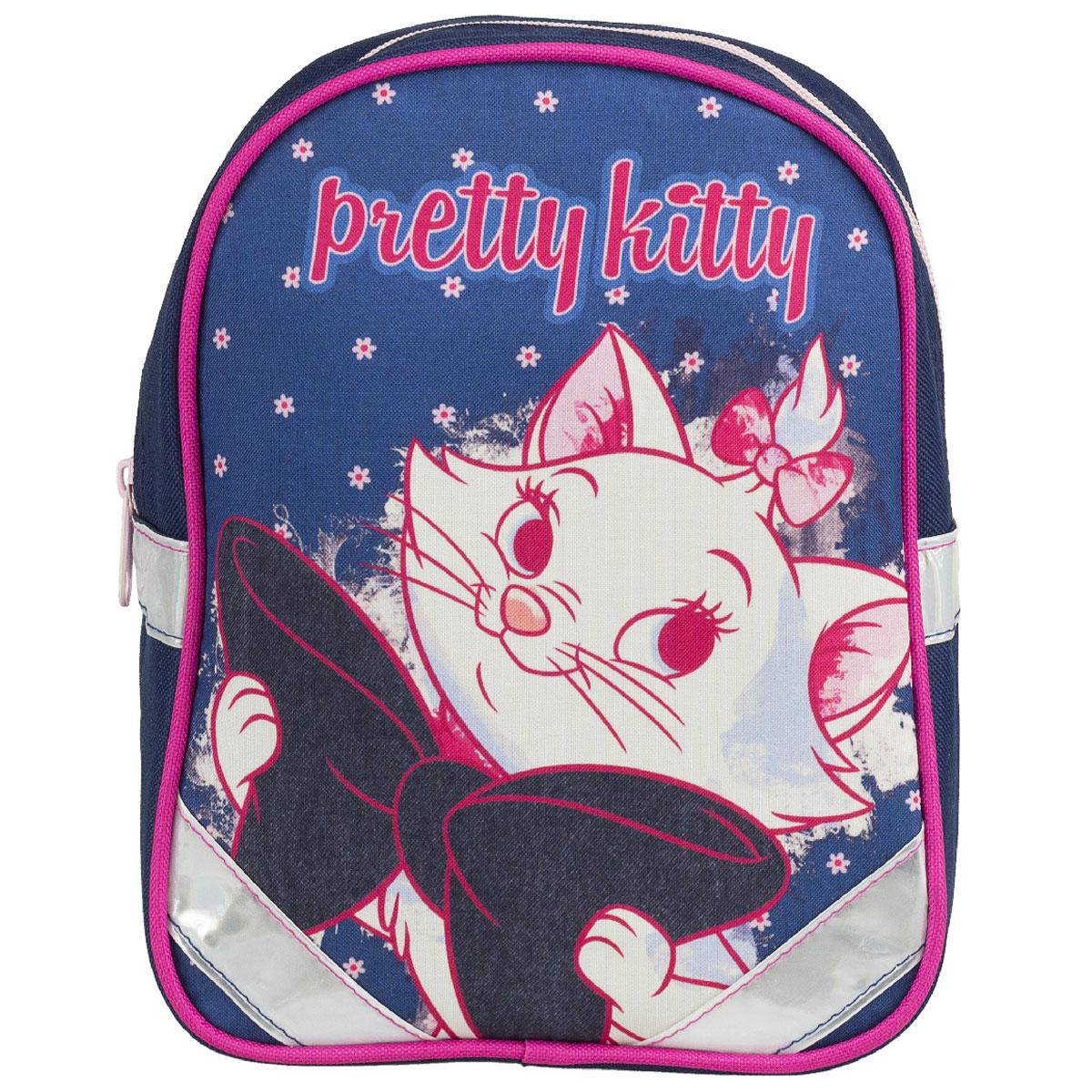 Рюкзак детский Kinderline Marie Cat, цвет: синий, белый, розовый