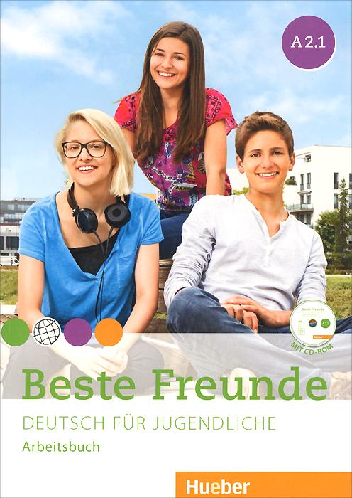 лучшая цена Beste Freunde A2.1: Deutsch fur Jugendliche: Arbeitbuch (+ CD-ROM)