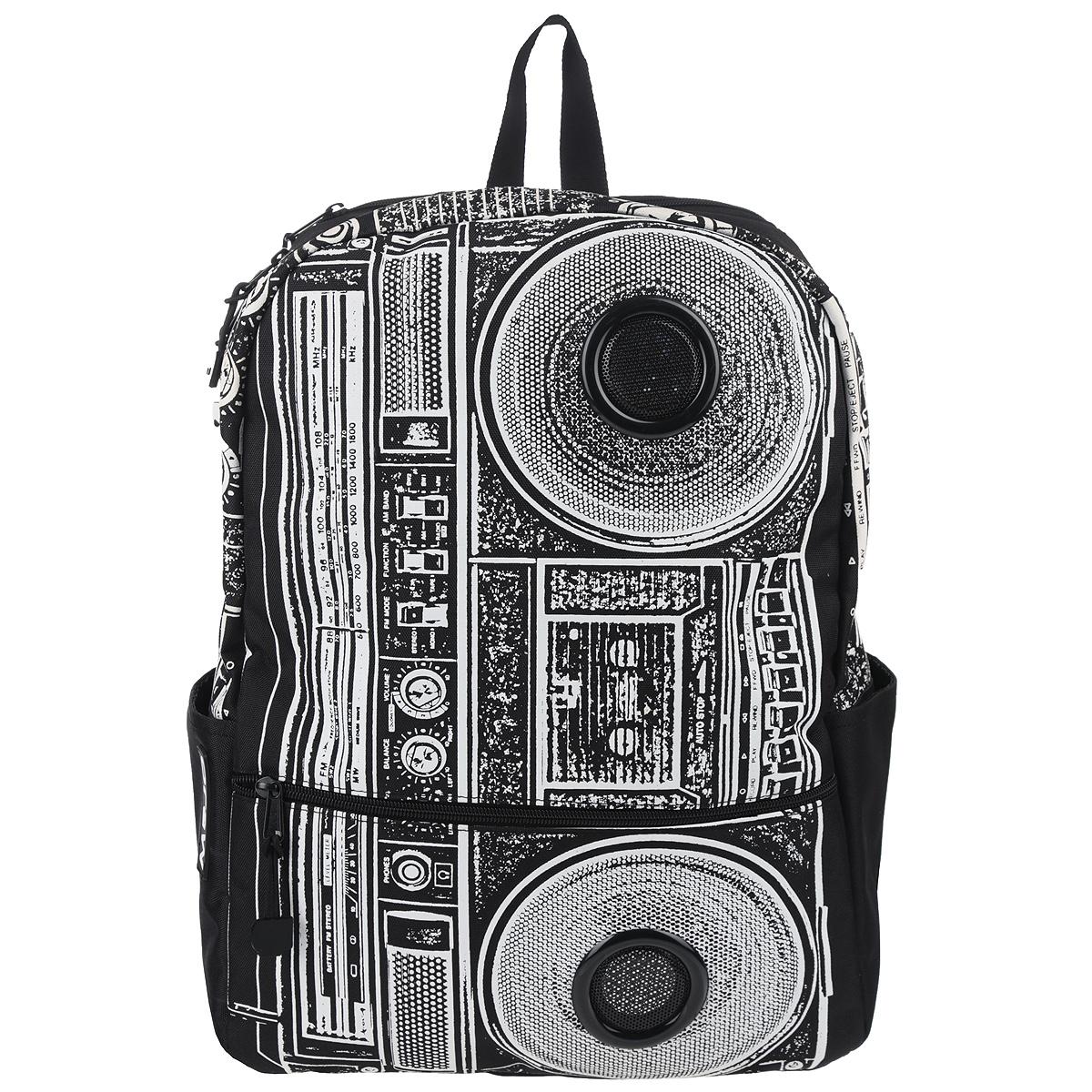 Рюкзак Mojo Pax Boombox, с динамиками, цвет: черный, белый. KZ9983489 mojo pax рюкзак dot hypno backpack