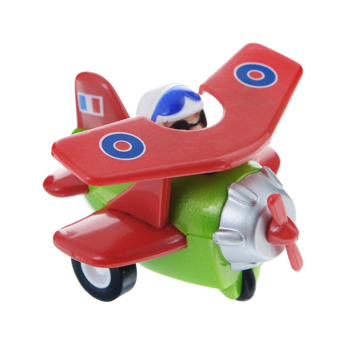 Hans Самолет инерционный цвет красный зеленый самолет самолетик синий