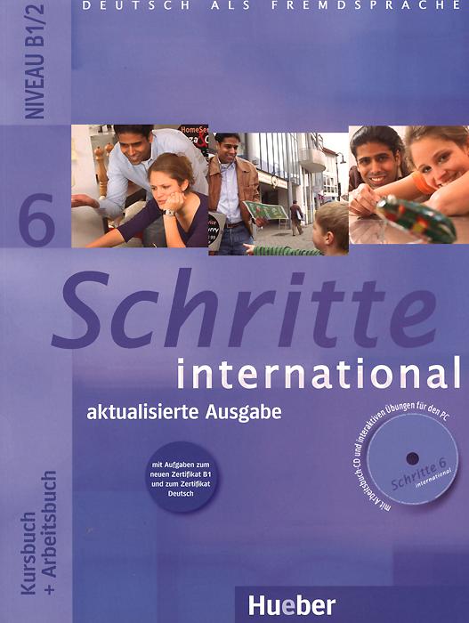 Schritte international 6: Niveau B1/2: Kursbuch + Arbeitsbuch (+ CD) цена и фото