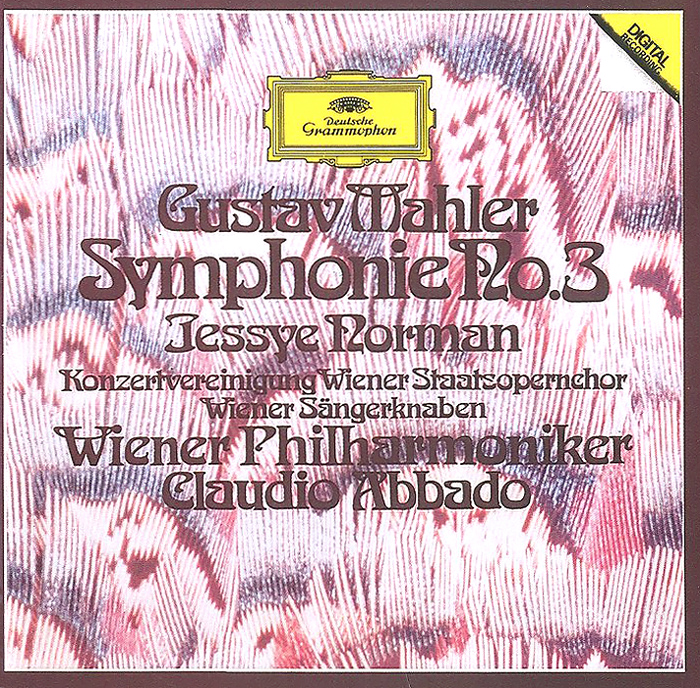 Клаудио Аббадо,Wiener Philharmoniker Claudio Abbado, Wiener Philharmoniker. Gustav Mahler. Symphonie No. 3 wiener philharmoniker pierre boulez mahler das klagende lied berg lulu suite