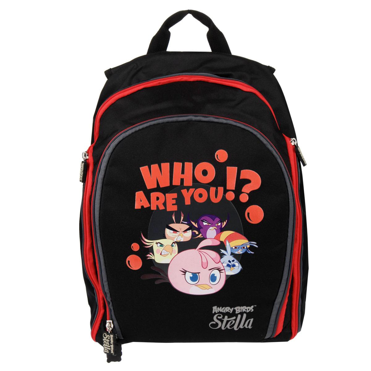 Рюкзак Action! Angry Birds Stella, цвет: черный, красный, серый цена