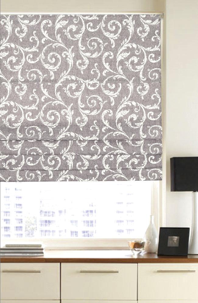Римская штора Garden, 120x170 см, цвет: светло-серый