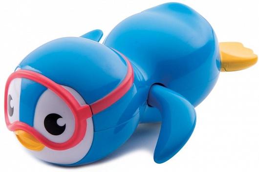 Munchkin игрушка для ванны пингвин пловец 9+ , цвет: белый, голубой