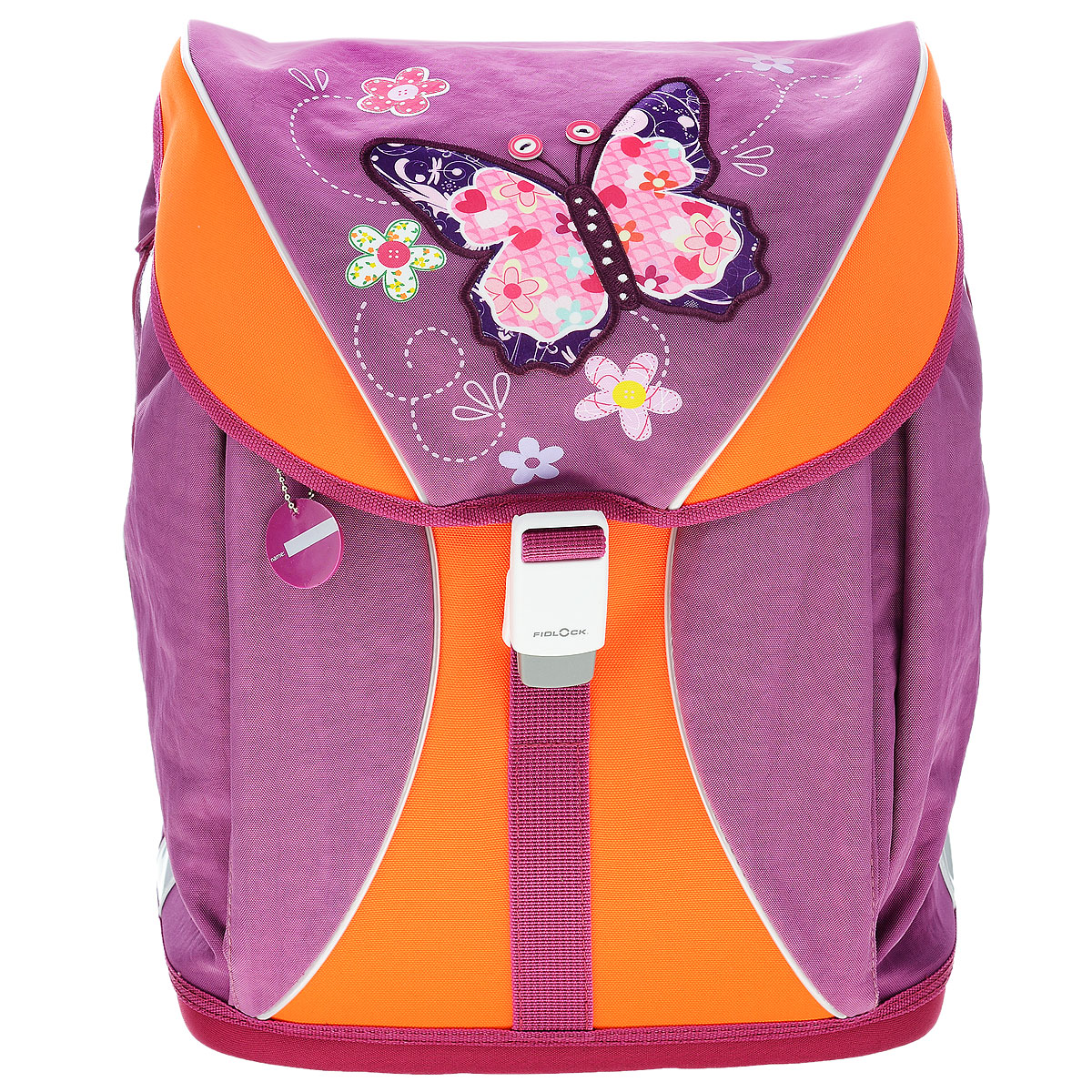 """Ранец школьный Tiger Family """"Voguish Collection"""", цвет: фиолетовый, оранжевый"""