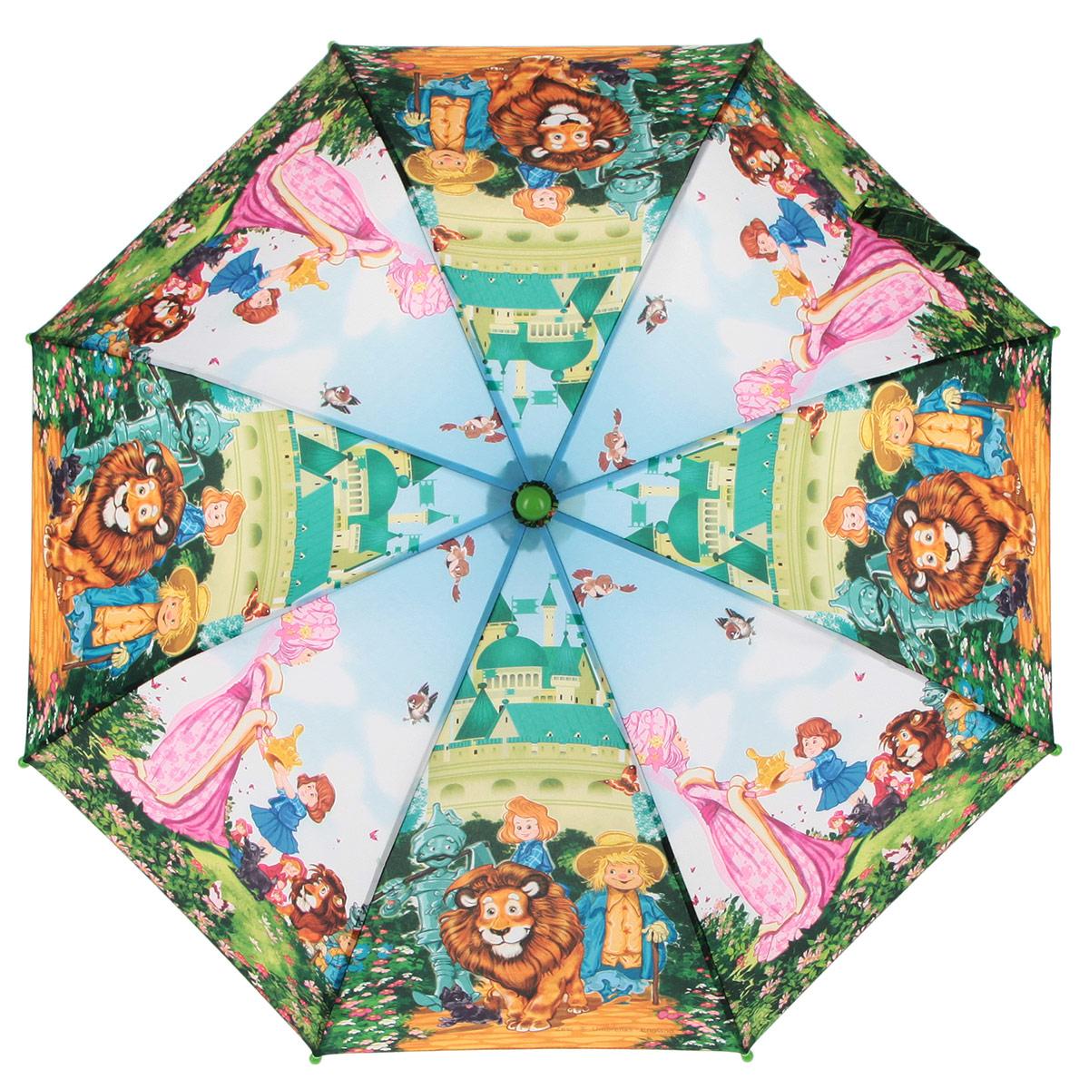Зонт-трость детский Zest, цвет: голубой, зеленый, мультицвет. 21565-03 zest зонт для раскрашивания детский