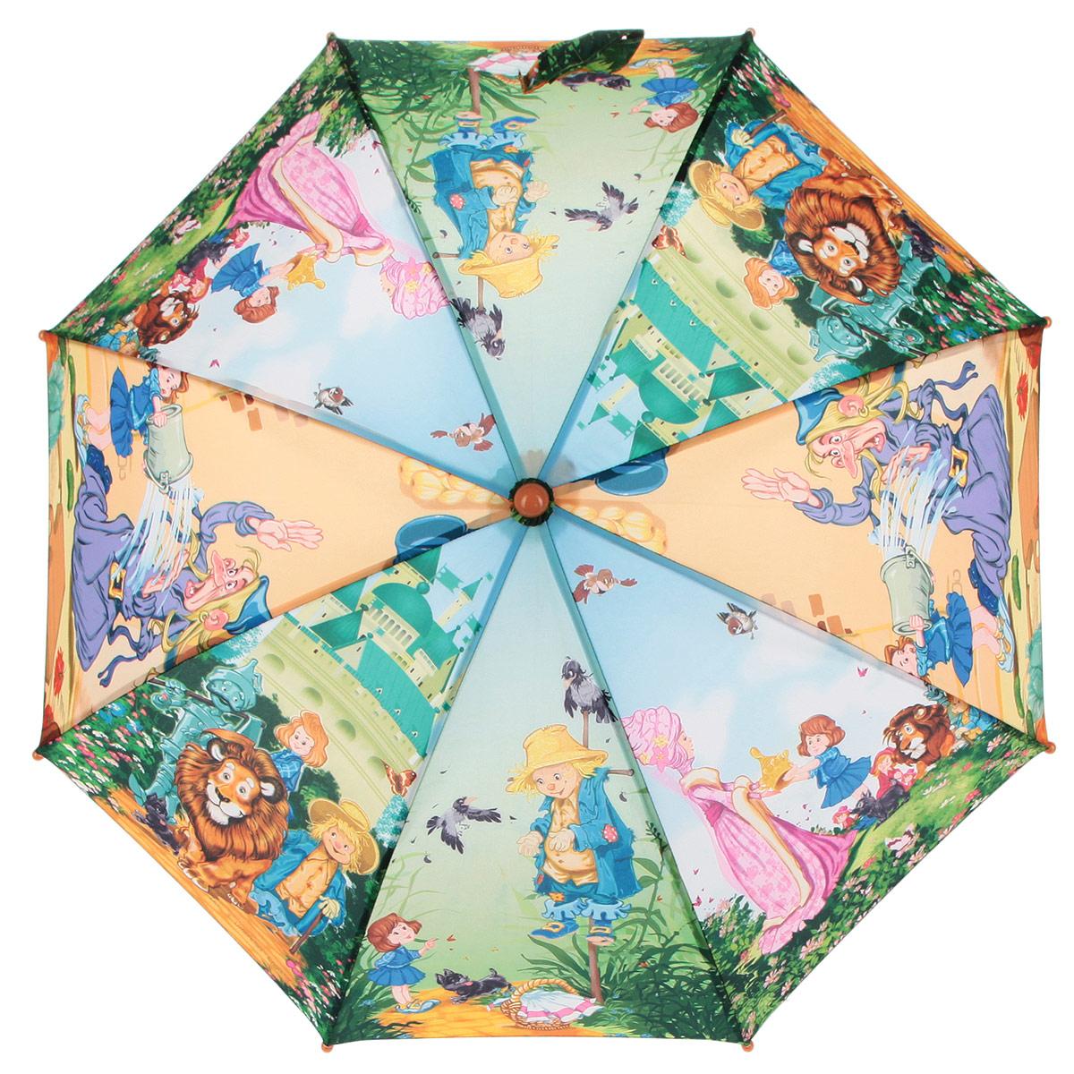 Зонт-трость детский Zest, цвет: зеленый, голубой, мультицвет. 21565-02 zest зонт для раскрашивания детский