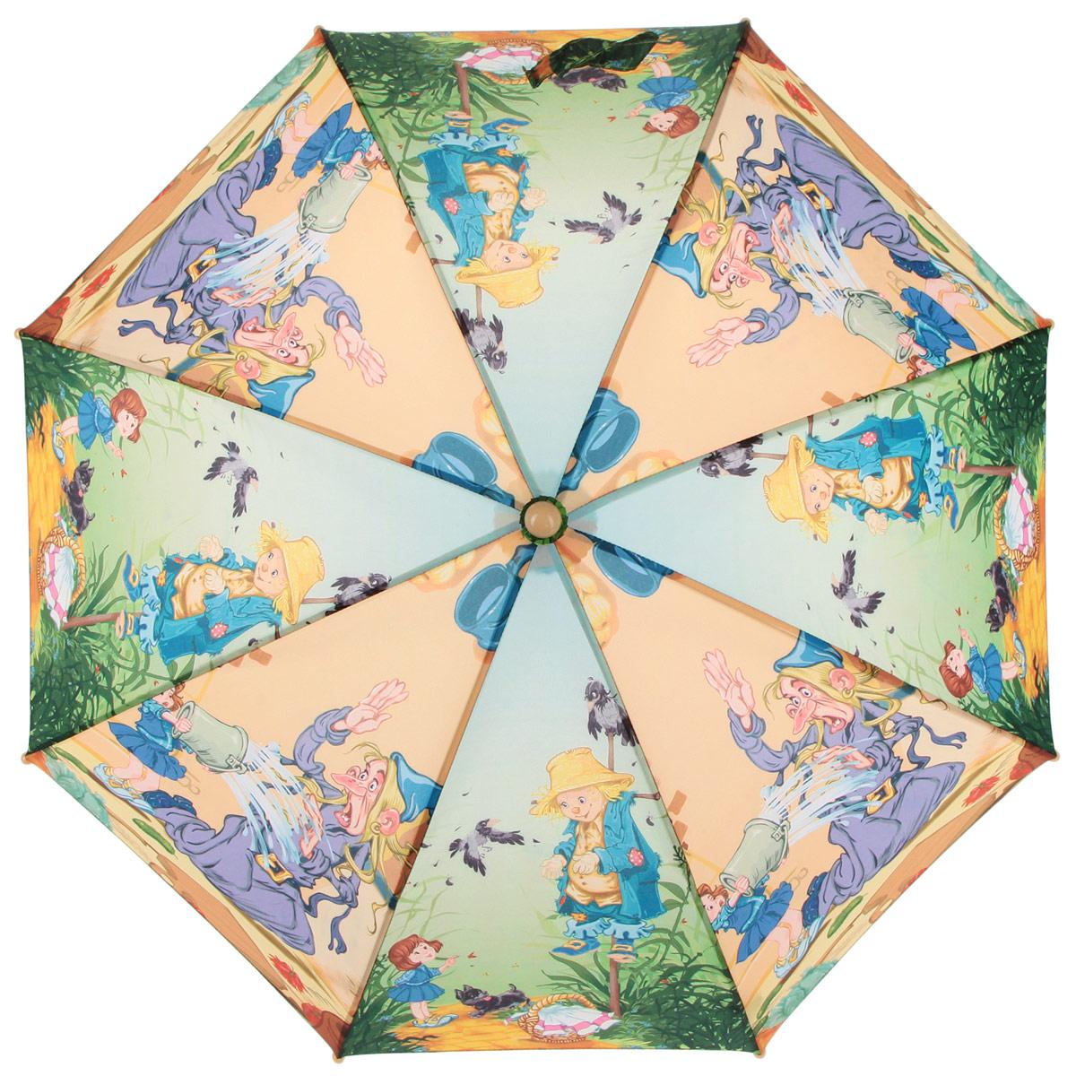 Зонт-трость детский Zest, цвет: зеленый, оранжевый, мультицвет. 21565-04 zest зонт для раскрашивания детский