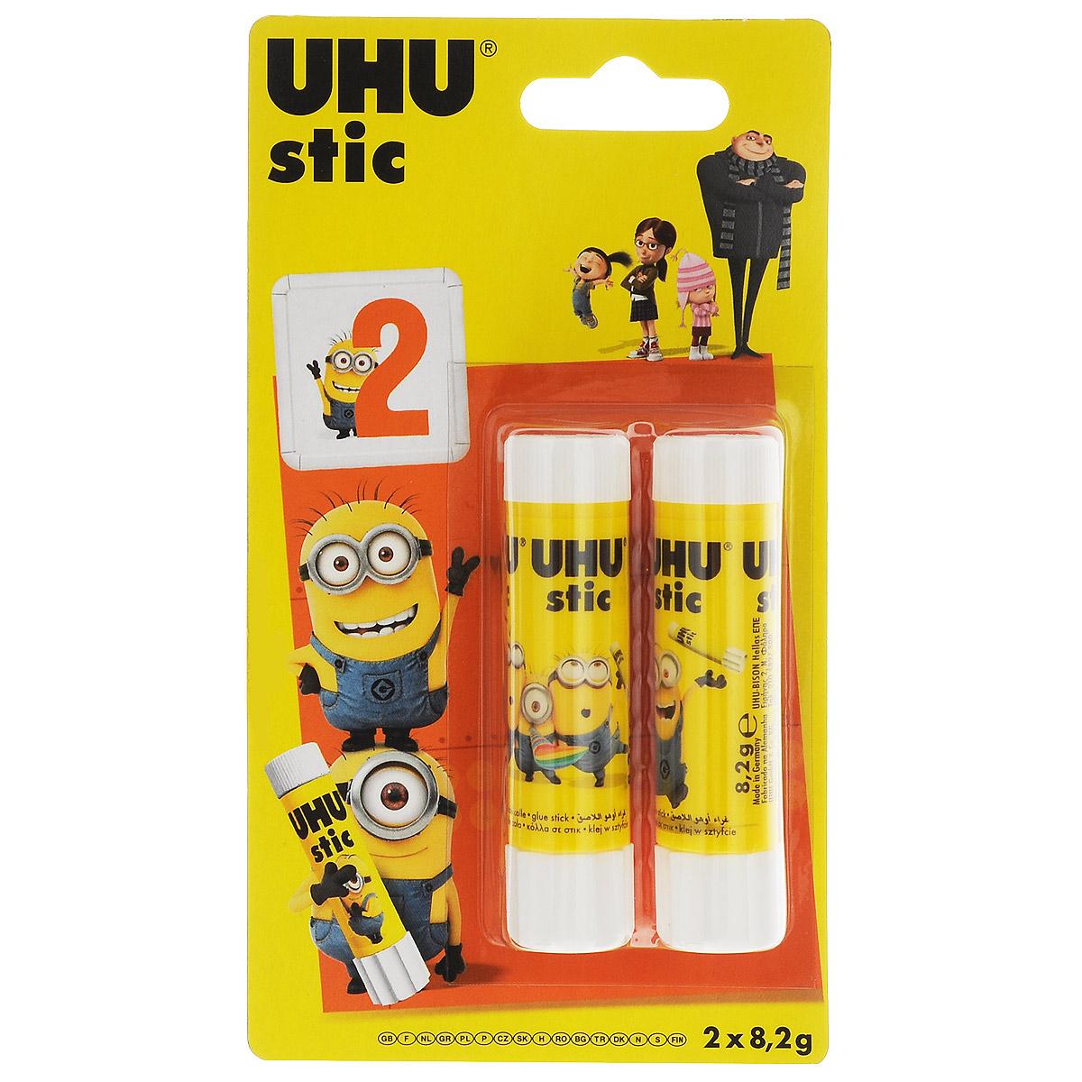 Клеящий карандаш Uhu Гадкий Я 2, 8,2 г, 2 шт карандаш клеящий forum office collection 20 гр