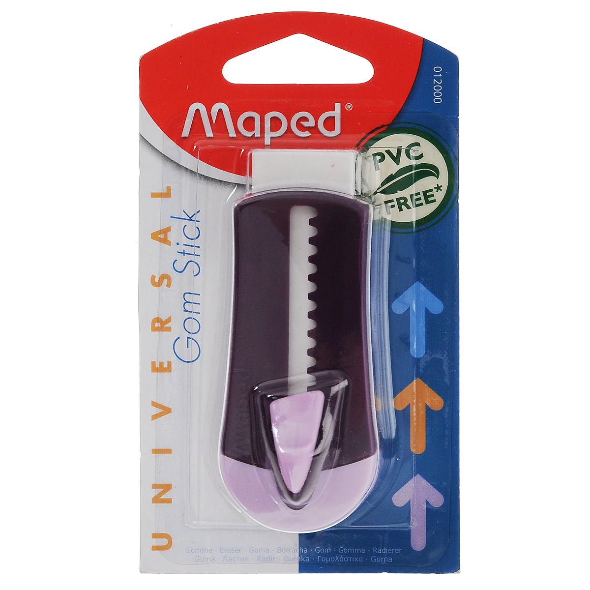 Ластик технический Maped Universal Gom Stick, в футляре, цвет: фиолетовый maped maped ластик softy mini в блистере