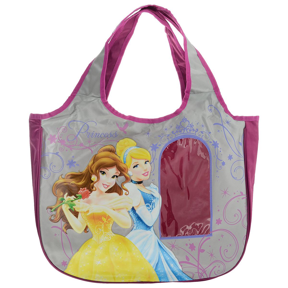 Сумка детская Disney Princess, цвет: розовый, серый. PRAS-UT-1445 сумочка princess цвет розовый prcb ut4 4017