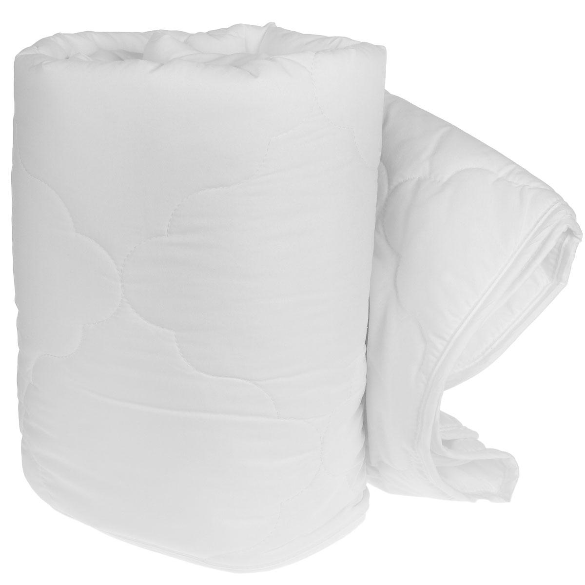 """Одеяло легкое """"Green Line"""", наполнитель: бамбуковое волокно, цвет: белый, 172 х 205 см"""