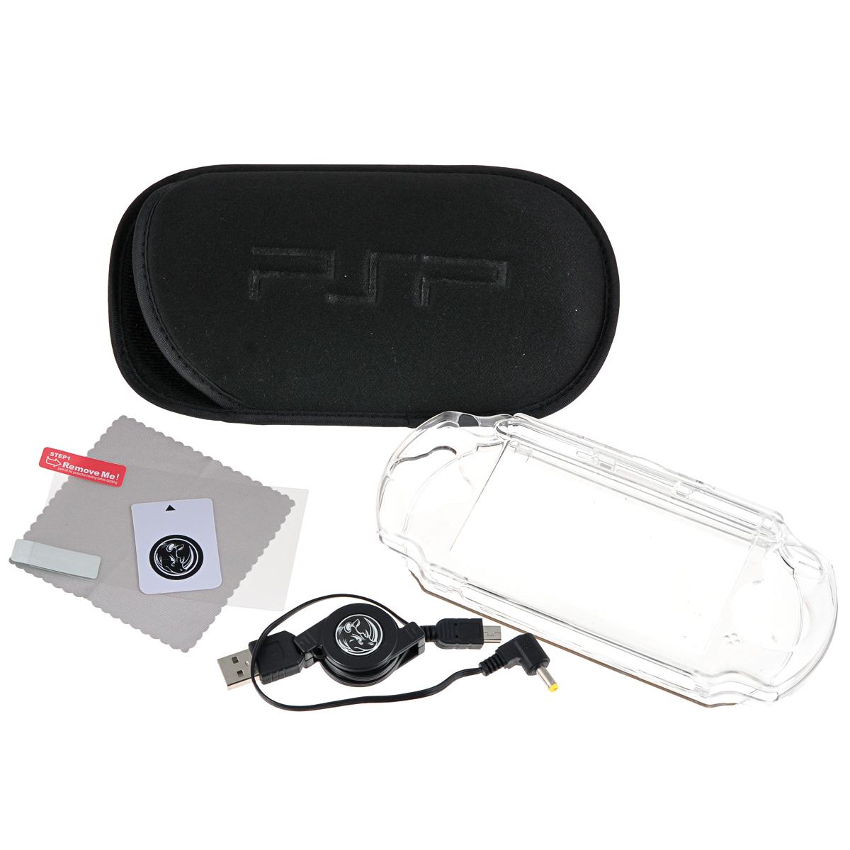 Набор 6 в 1 Black Horns для Sony PSP E1000 (BH-PSE0803(R) разветвитель usb black horns для ps4