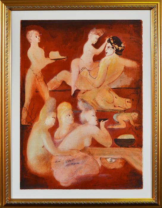 Цветная литография Сатирикон Петрония (Satyricon de Petrone). Леонор Фини (Leonor Fini; 1908-1996). Франция, 1970 год шампунь леонор