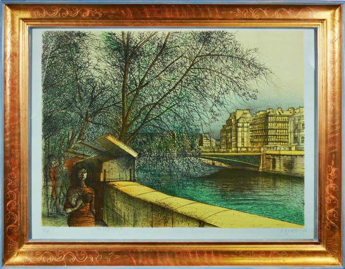 Букинисты-II. Цветная литография. Жан Карзу. Франция, 1983 год эсмеральда литография 83 100 эдуард гёрг франция 1960 гг
