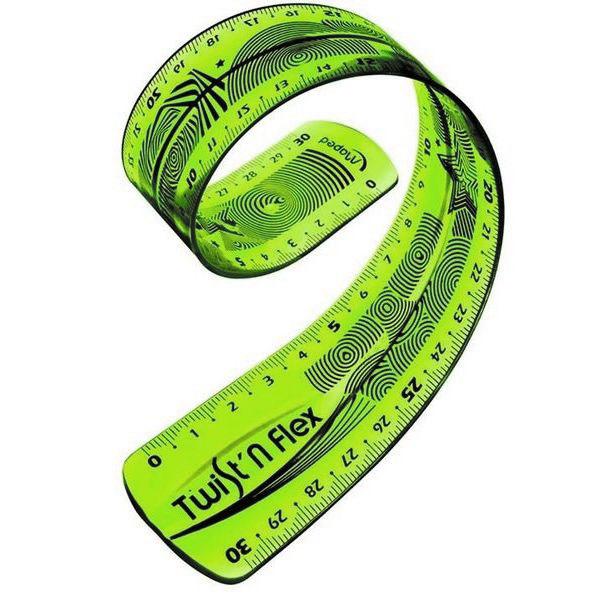 Линейка Maped Twist'n'flex, гибкая, цвет: зеленый, 30 см линейка maped twist n flex неломающаяся цвет голубой 20 см