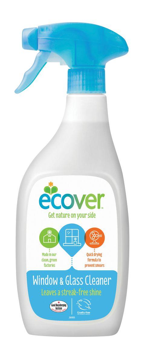 Экологический спрей Ecover для чистки окон и стеклянных поверхностей, 500 мл экологический суперочищающий спрей ecover универсальный 500 мл