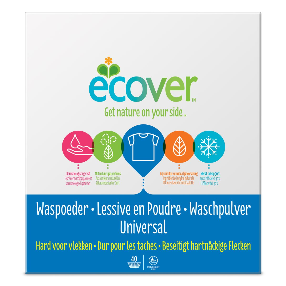 детские моющие средства meine liebe стиральный порошок универсальный концентрат 1000 г Экологический стиральный порошок Ecover, концентрат, универсальный, 3 кг