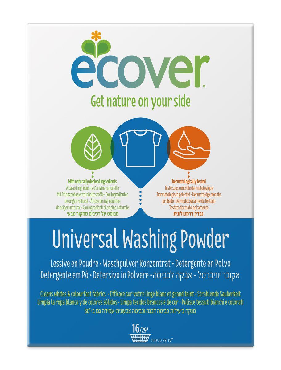 детские моющие средства meine liebe стиральный порошок универсальный концентрат 1000 г Экологический стиральный порошок Ecover, концентрат, универсальный, 1,2 кг