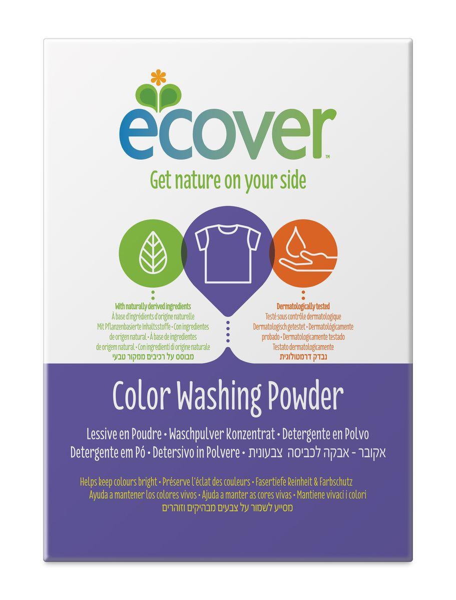 Экологический стиральный порошок Ecover, концентрат, для цветного белья, 1,2 кг