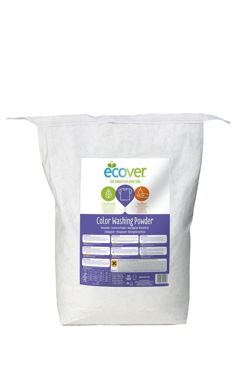Экологический стиральный порошок Ecover, концентрат, для цветного белья, 7,5 кг экологический стиральный порошок ecover концентрат универсальный 3 кг