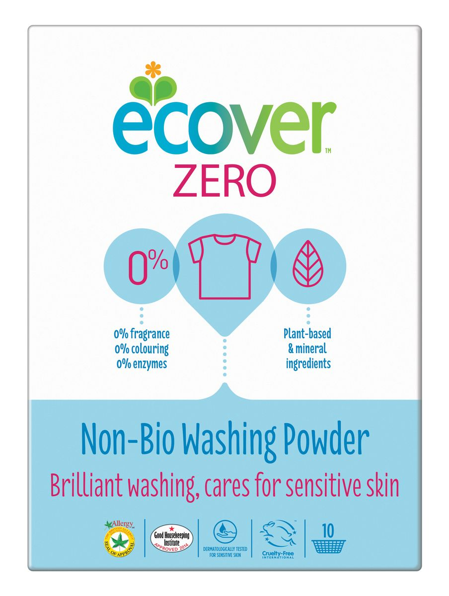 Экологический стиральный порошок Ecover Zero, универсальный, 750 г экологический суперочищающий спрей ecover универсальный 500 мл
