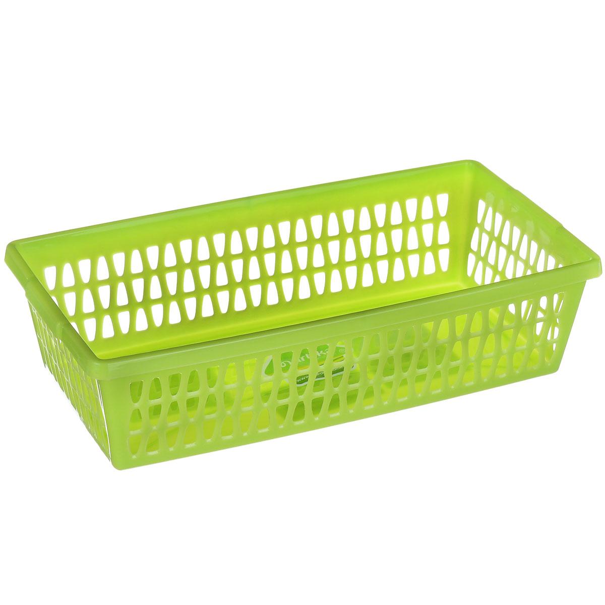 Корзина Martika Велетта, цвет: салатовый, 21 см х 11 см х 5 см корзина для хранения альтернатива вдохновение цвет салатовый 26 5 х 16 5 х 10 см