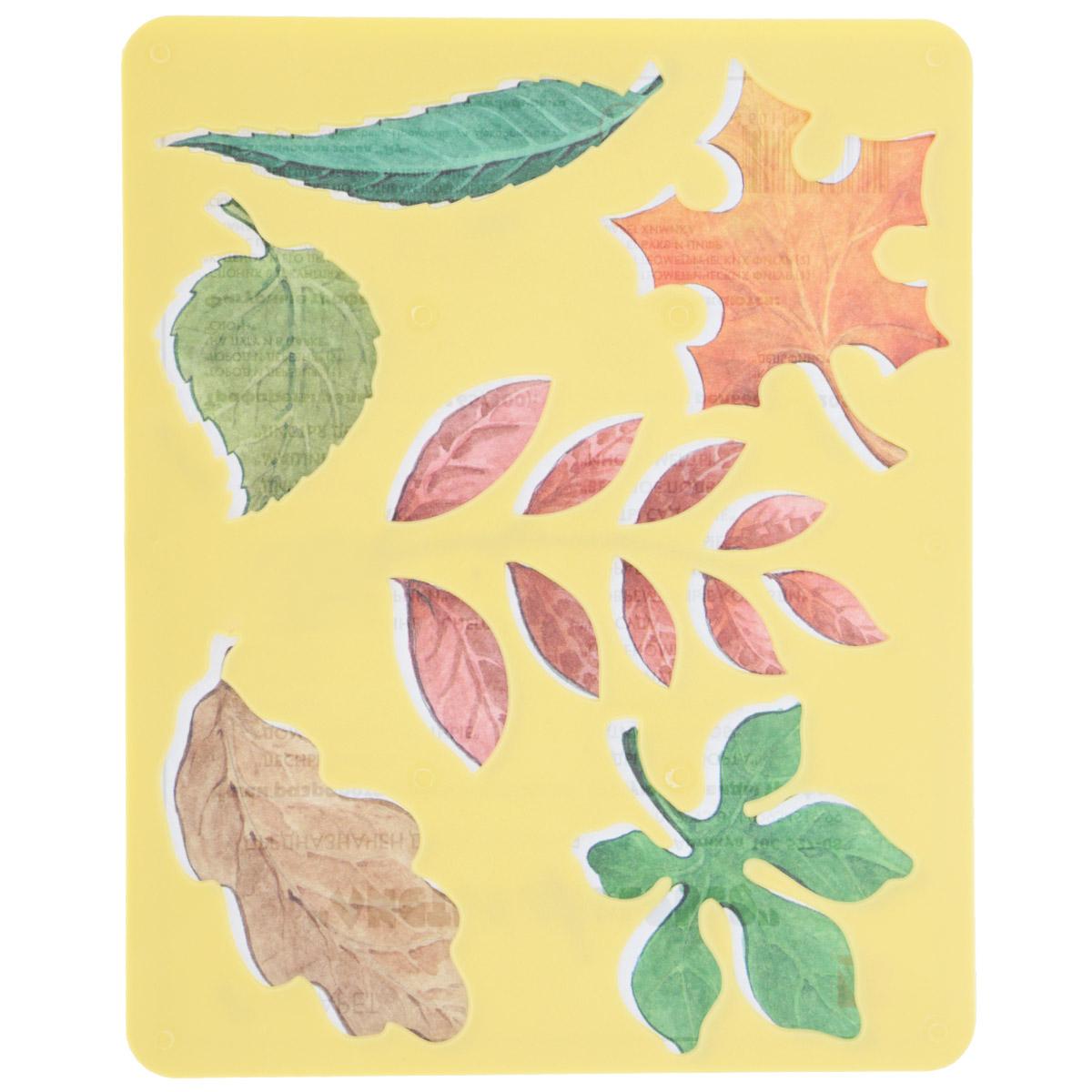 Луч Трафарет прорезной Листья деревьев цвет в ассортименте