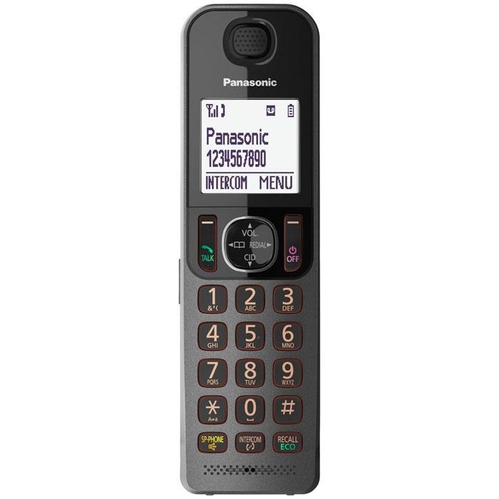 Радиотелефон с автоответчиком Panasonic KX-TGF320RUM, черный Panasonic