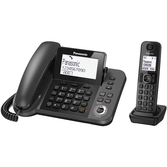 Радиотелефон с автоответчиком Panasonic KX-TGF320RUM, черный