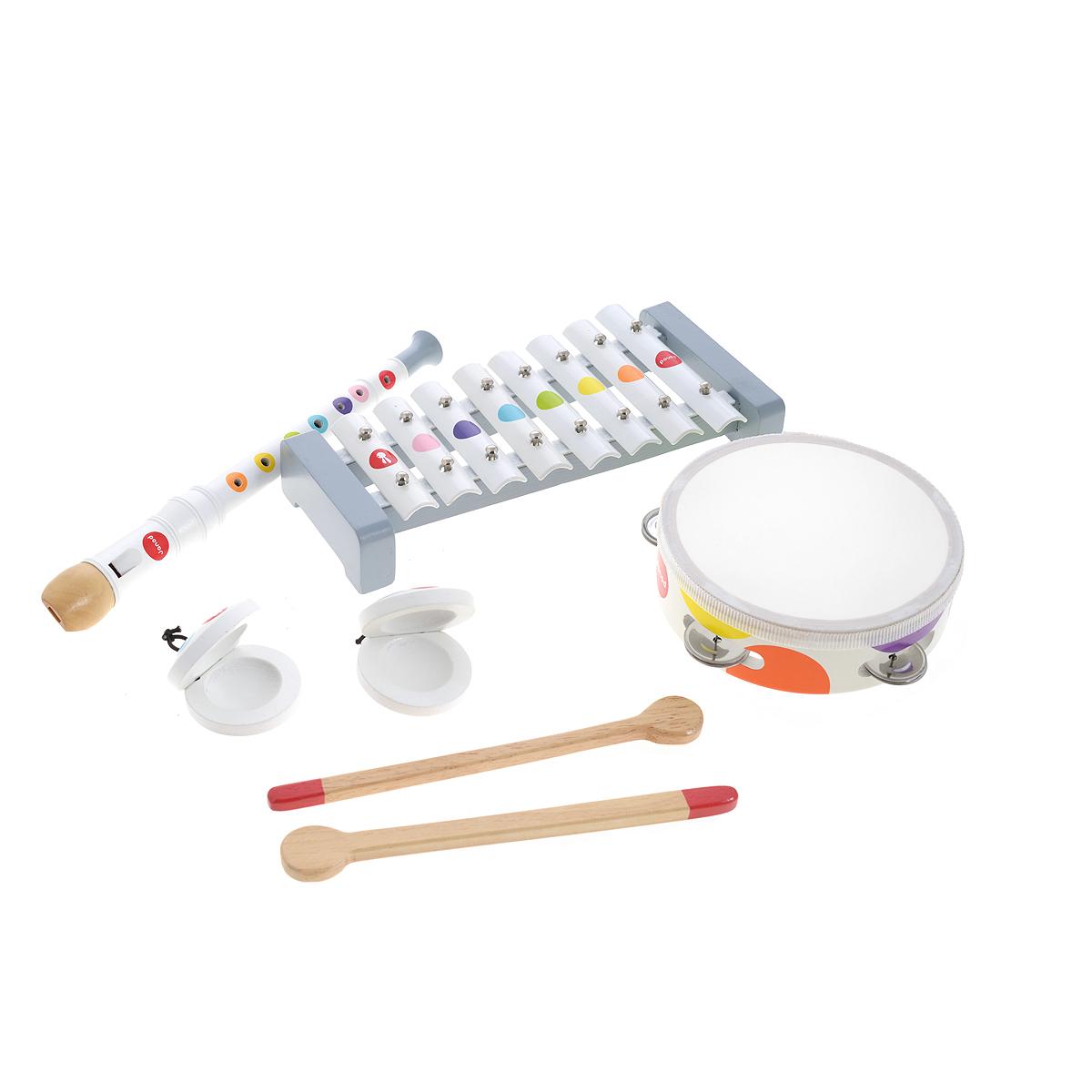 Janod Набор музыкальных инструментов Confetti 4 предмета