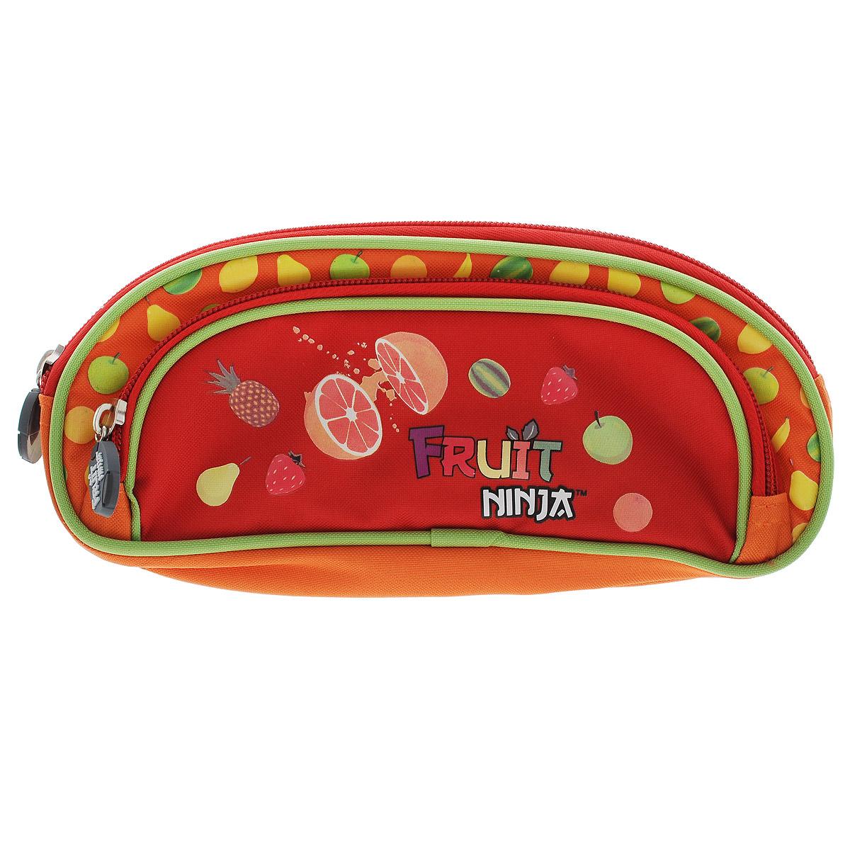 Фото - Пенал Action! Fruit Ninja, цвет: оранжевый канцелярия action подкладка на стол fruit ninja