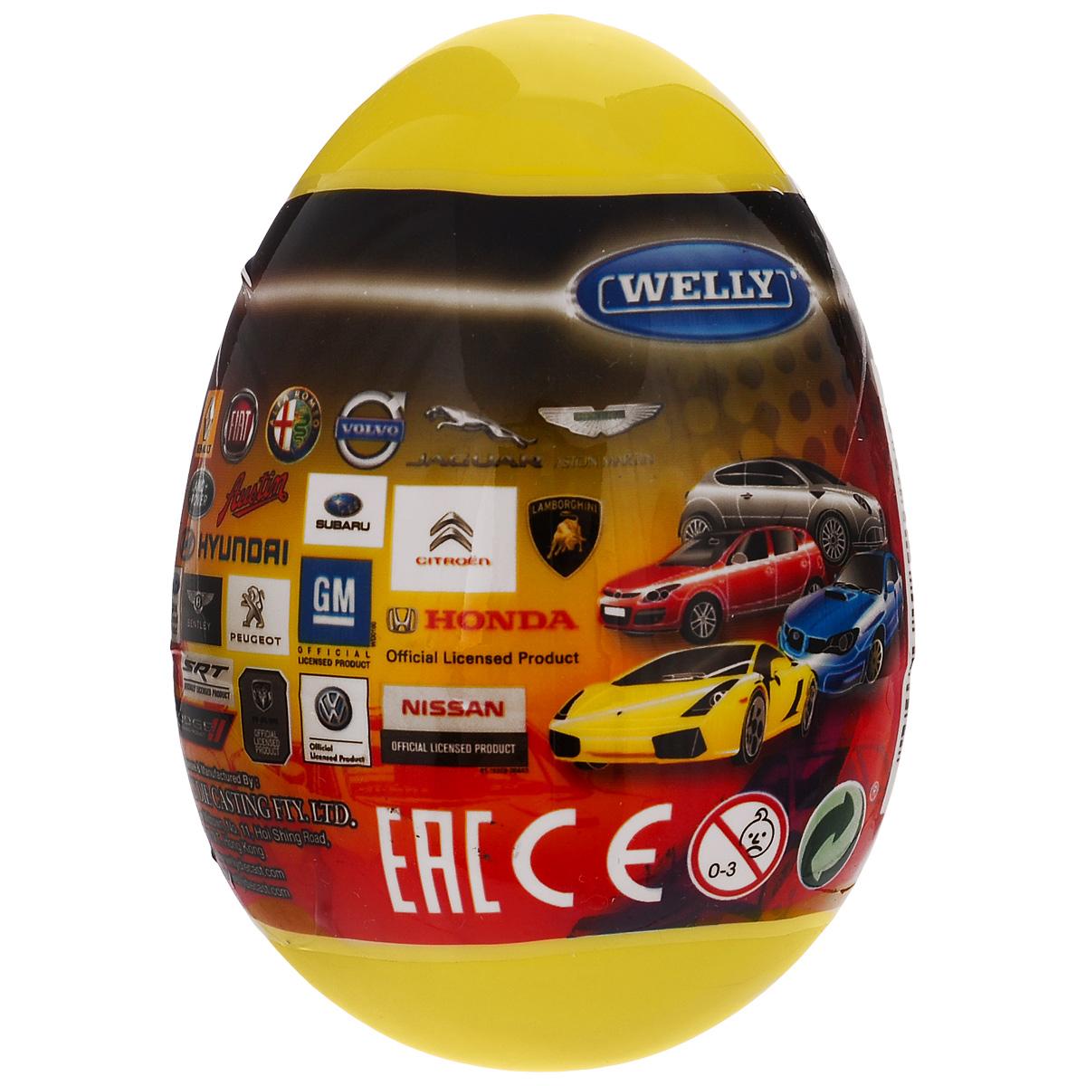 Welly Яйцо-сюрприз с машинкой цвет желтый