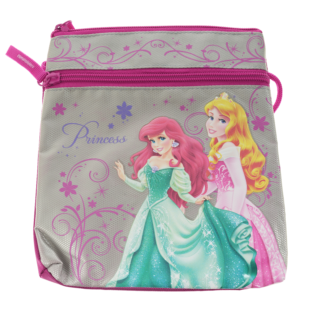 Сумка детская Princess, цвет: серый, розовый сумочка princess цвет розовый prcb ut4 4017
