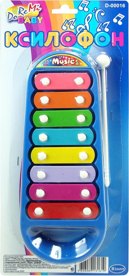 Ксилофон 12,5х28,5смD-00016(3021)Ксилофон RINZO - яркая музыкальная игрушка для самых маленьких меломанов. Эта игрушка знакома всем без исключения. Сделан из пластмассовых пластин, по которым ребенок сможет ударять палочкой, входящей в набор, и извлекать звуки музыки из ксилофона.Детский ксилофон дает ребенку возможность развивать музыкальный слух, моторику. Рекомендуем!