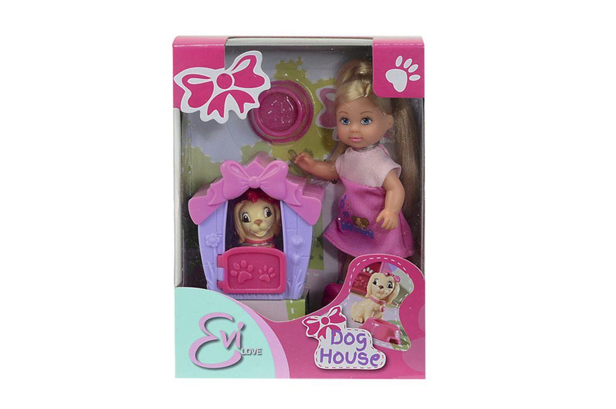 Simba Кукла Еви с собачкой в домике кукла еви со стильной собачкой