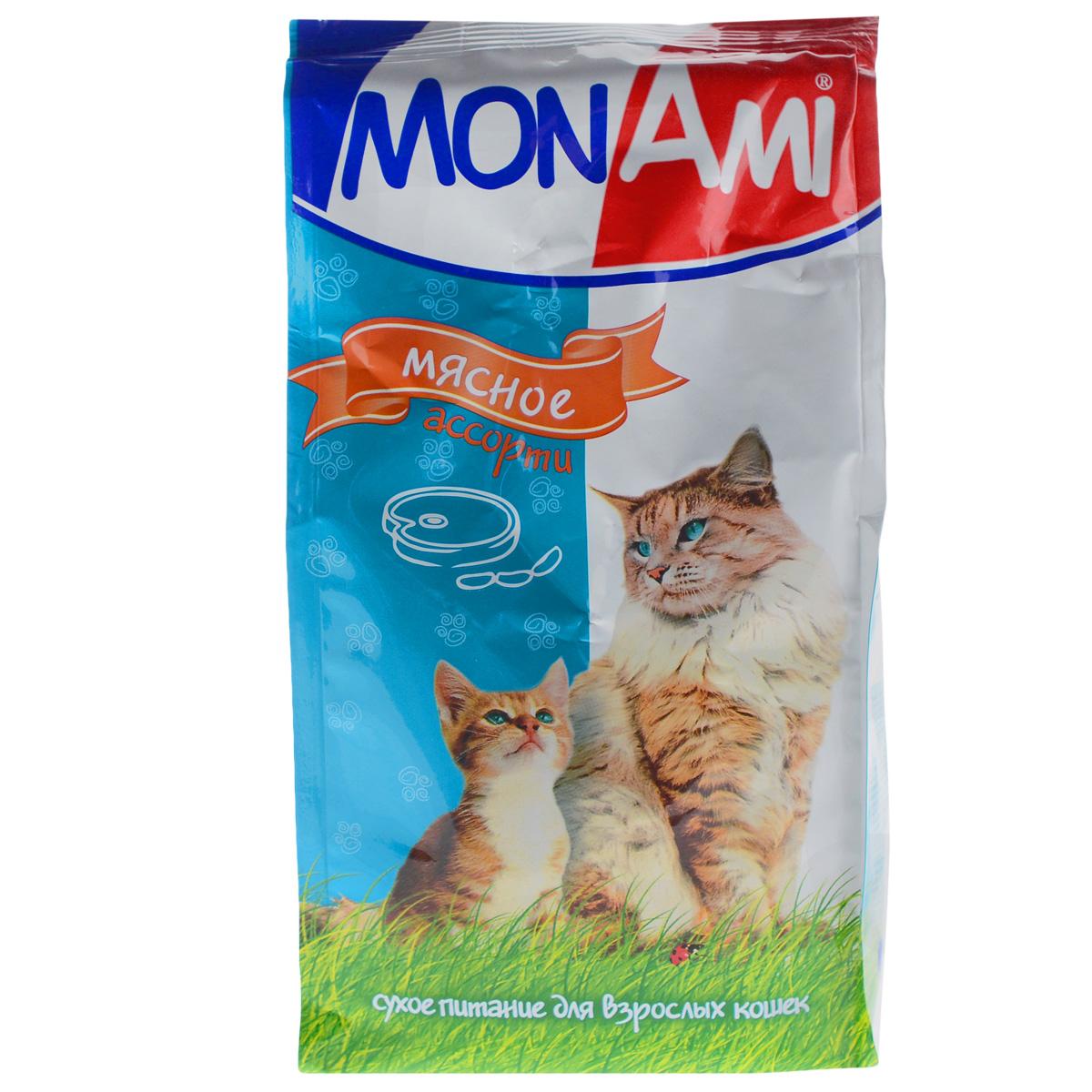 "Корм сухой для кошек ""Mon Ami"", мясное ассорти, 400 г"