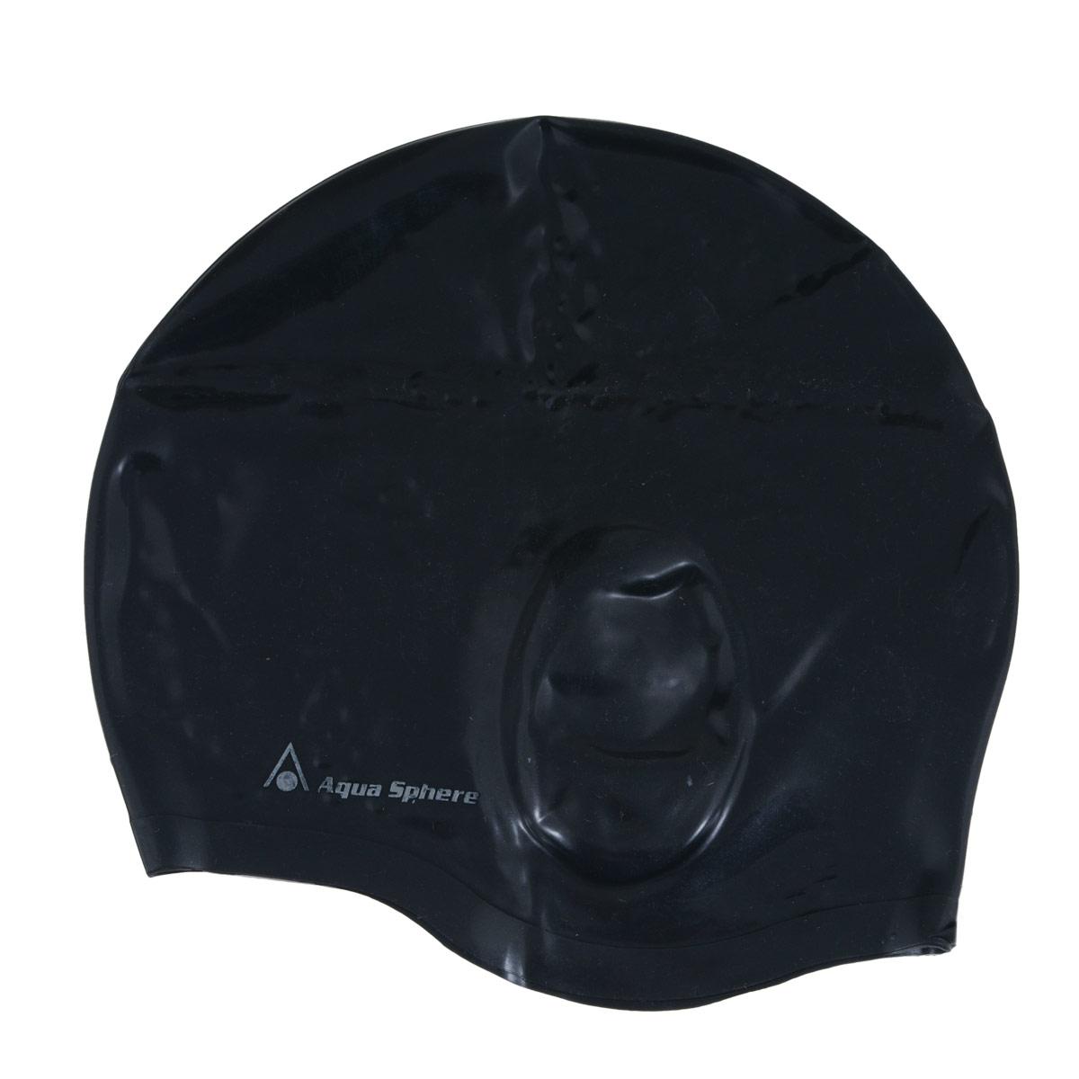 Шапочка для плавания Aqua Sphere Aqua Glide, цвет: черный аксессуары для волос riwa