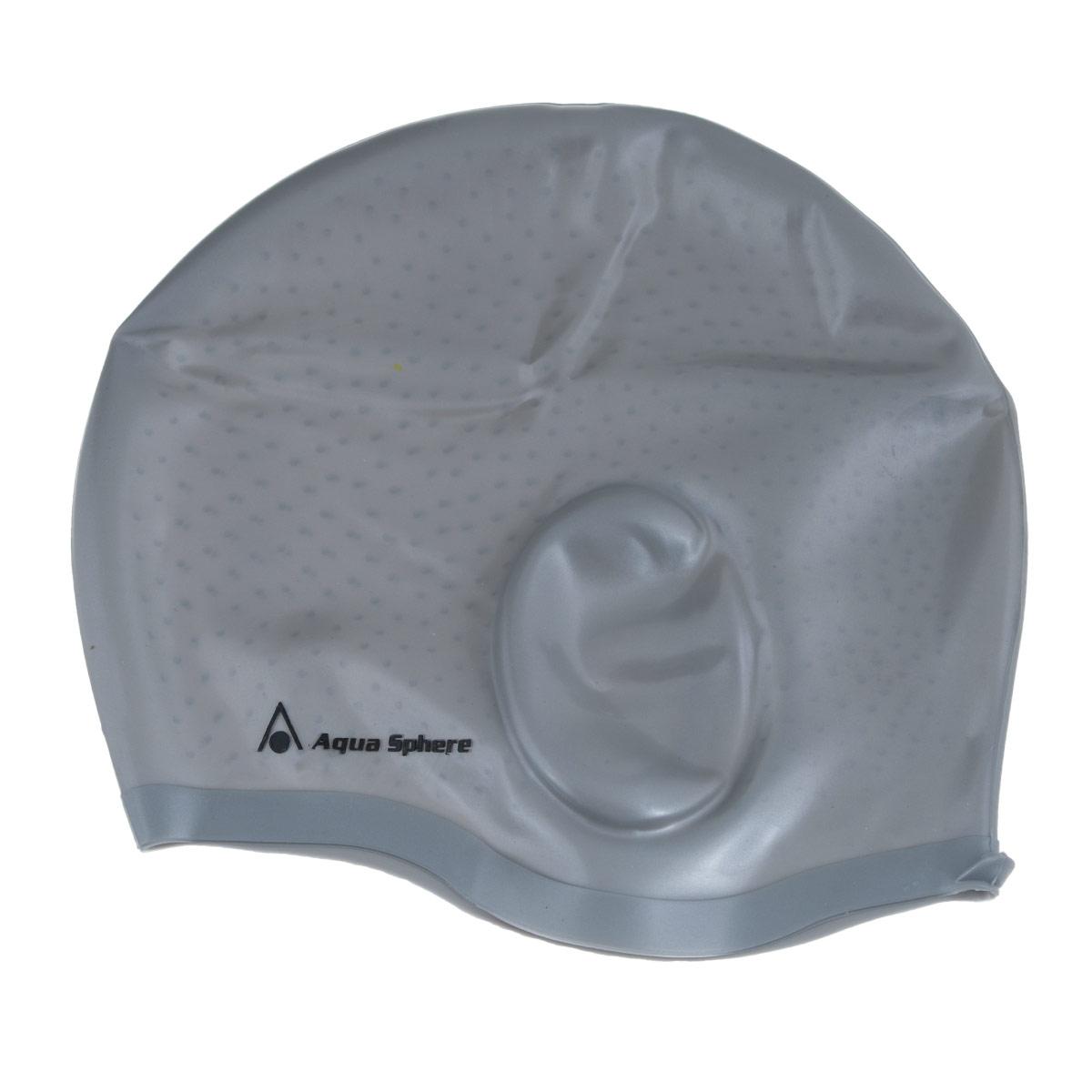 Шапочка для плавания Aqua Sphere Aqua Glide, цвет: серебристый беруши силиконовые aqua sphere 4 шт
