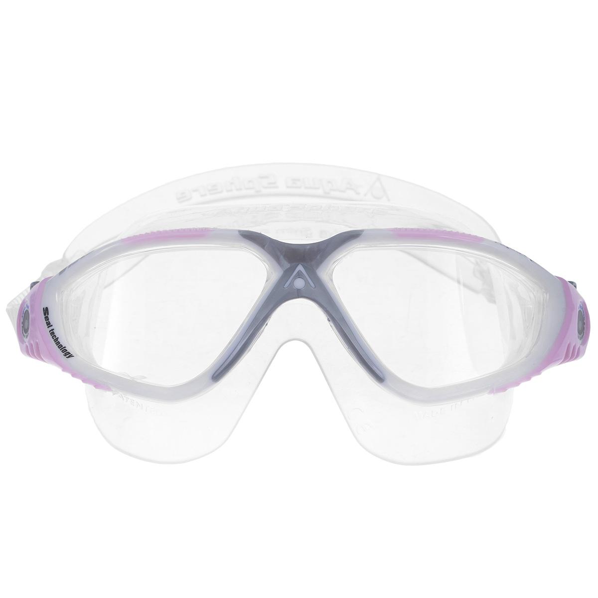 Очки для плавания Aqua Sphere Vista Lady, цвет: белый, розовый беруши силиконовые aqua sphere 4 шт