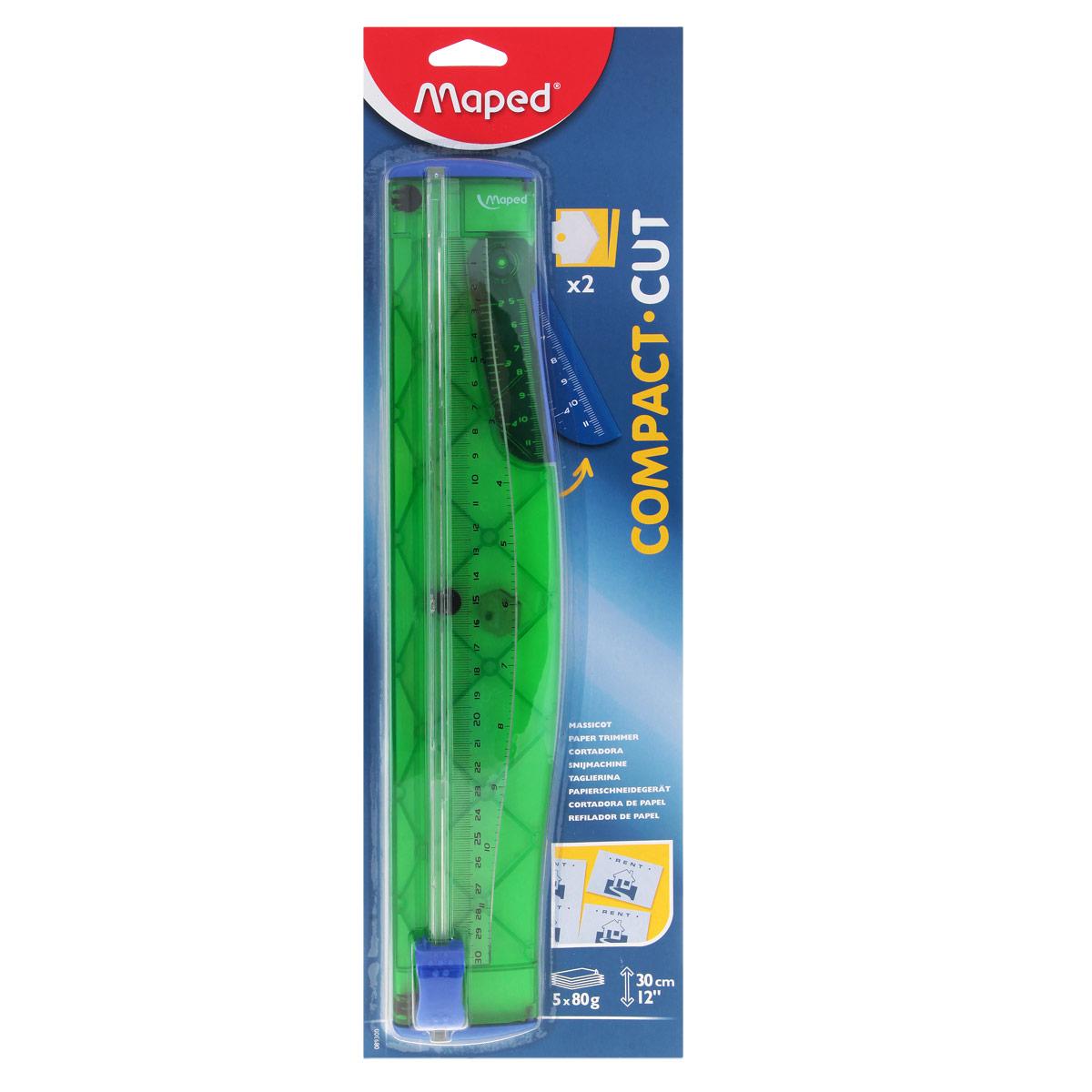 Мини-резак для бумаги Maped Compact, цвет: зеленый deli 8015 стальной резак резак резак резак 250 мм 250 мм