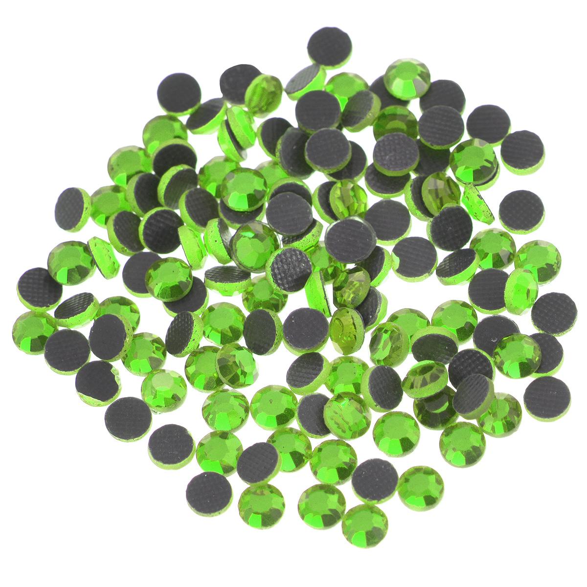 """Стразы термоклеевые """"Cristal"""", цвет: светло-зеленый (214), диаметр 4 мм, 144 шт"""