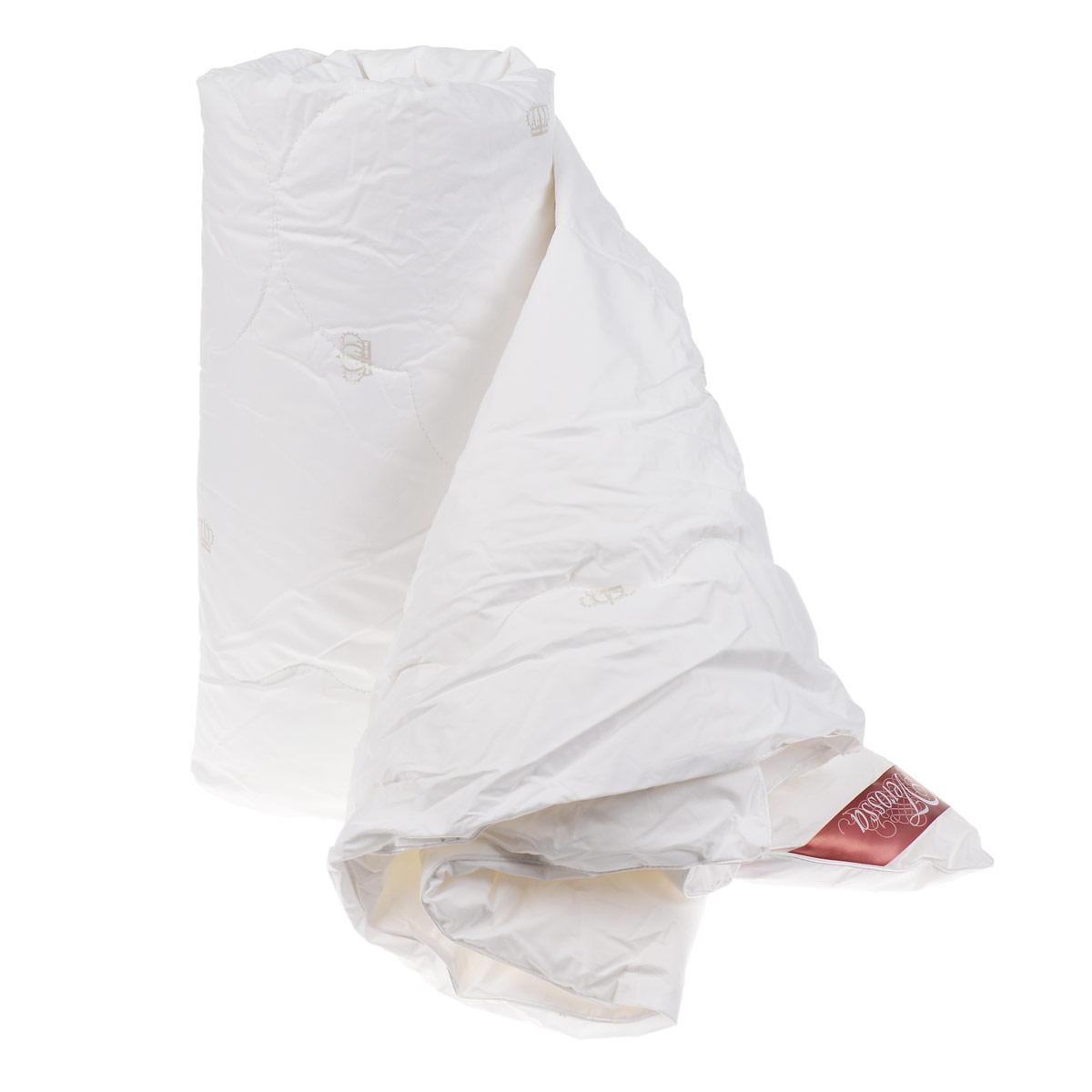 Одеяло Verossa, наполнитель: лебяжий пух, цвет: белый, 172 х 205 см одеяло verossa лёгкое 200х220см иск пух