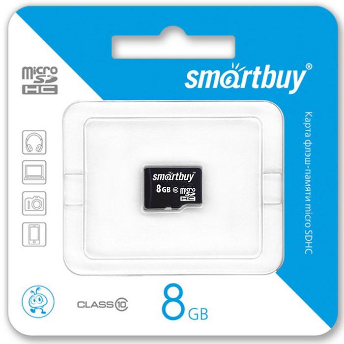 SmartBuy microSDHC Сlass 10 8GB карта памяти (без адаптера) карта памяти в самсунг