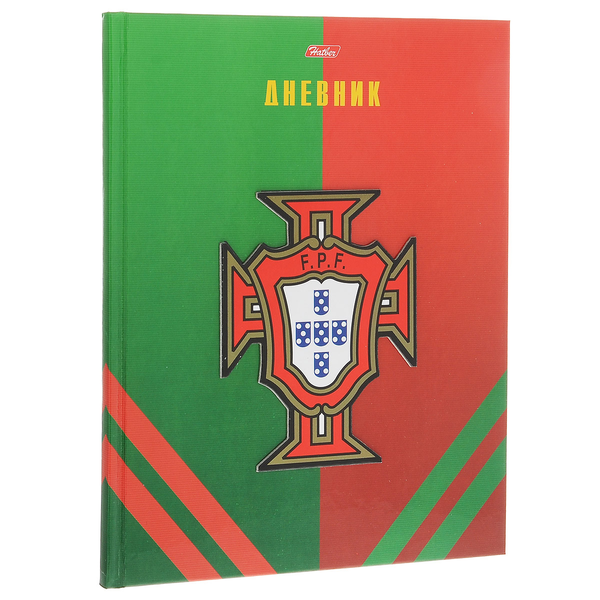 """Дневник школьный Hatber """"Мир футбола. Португалия"""", цвет: зеленый, красный"""