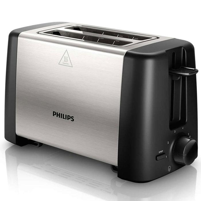 Тостер Philips HD4825/90 Daily Collection тостер philips hd4825 90 черный серебристый